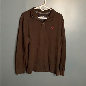 American Eagle collared Henley